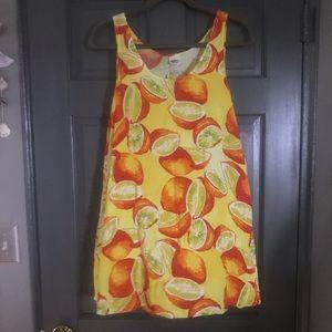 Dresses & Skirts - Citrus Pattern Mini Dress